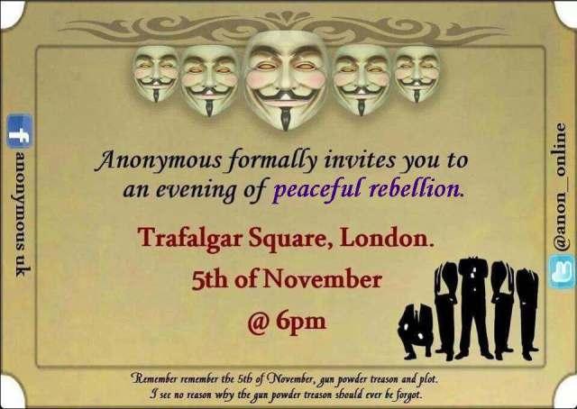 Anonymous Peaceful Rebellion